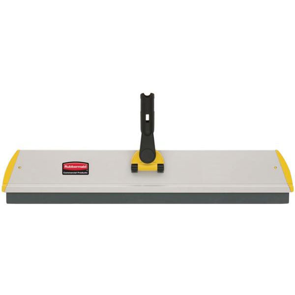 "Rubbermaid FGQ59000YL00 48"" Hygen Squeegee Frame - Flat, Hook-and-Loop Strips, Aluminum, Yellow"