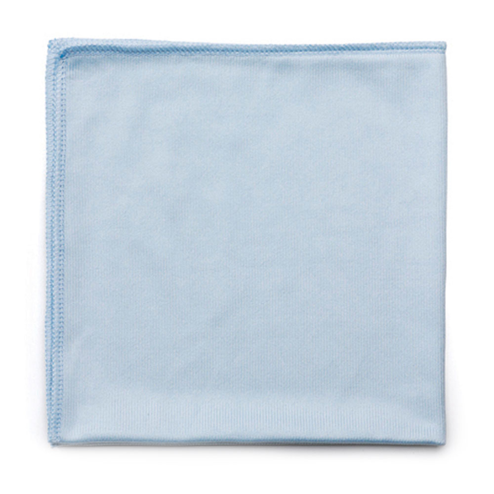"Rubbermaid FGQ63006BL00 16"" Square Hygen Glass Cloth - Microfiber, Blue"