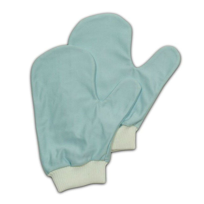 Rubbermaid FGQ65100BL00 Hygen Glass/Mirror Mitt with Thumb - Microfiber, Blue