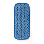 "Rubbermaid FGQ82000BL00 11"" Hygen Wall/Stair Damp Mop - Microfiber, Blue"