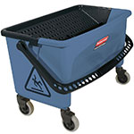 Rubbermaid FGQ93000BLUE Microfiber Press Wring Bucket - Blue