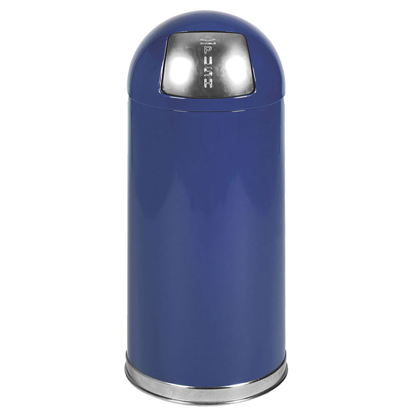 Rubbermaid FGR1536EGLCOB 15-gal Indoor Decorative Trash Can - Metal, Cobalt Blue
