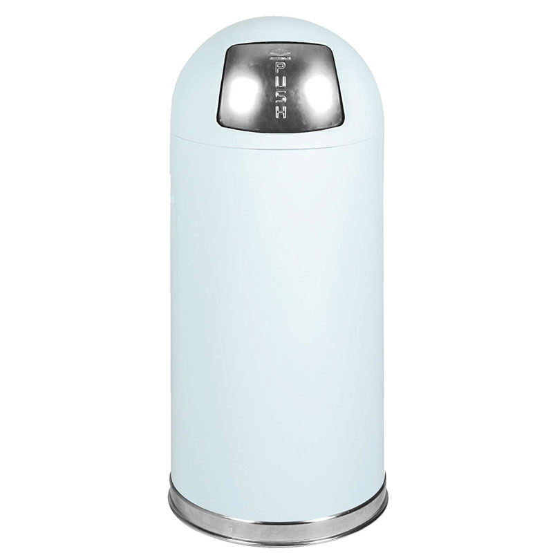 Rubbermaid FGR1536EGLWH 15-gal Indoor Decorative Trash Can - Metal, White