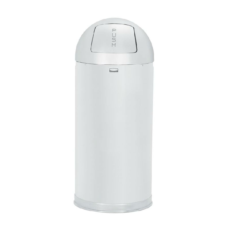 Rubbermaid FGR1536MCPL 15-gal Indoor Decorative Trash Can - Metal, Mirror Chrome