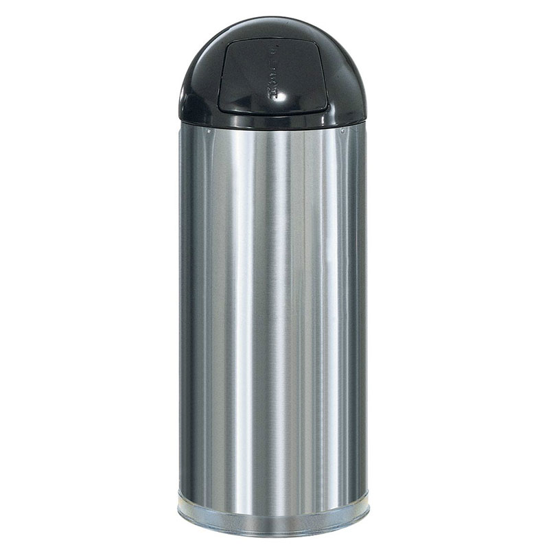 Rubbermaid FGR1536SSSPL 15-gal Indoor Decorative Trash Can - Metal, Stainless Steel