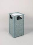Rubbermaid FGR18SU2000PL 24-gal Aspen Ash/Trash Receptacle - Rigid Plastic Liner, Dove Gray/Gray