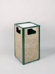 Rubbermaid FGR18SU202PL 24-gal Aspen Ash/Trash Receptacle - Rigid Plastic Liner, Desert Brown/Green