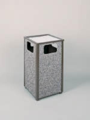 Rubbermaid FGR18SU6000PL 24-gal Aspen Ash/Trash Receptacle - Rigid Plastic Liner, Glacier Gray/Bronze