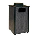 Rubbermaid FGR18WU 500 PL 24-gal Ash/Trash Receptacle - Weather Urn, Plastic Liner, Anthracite/Black