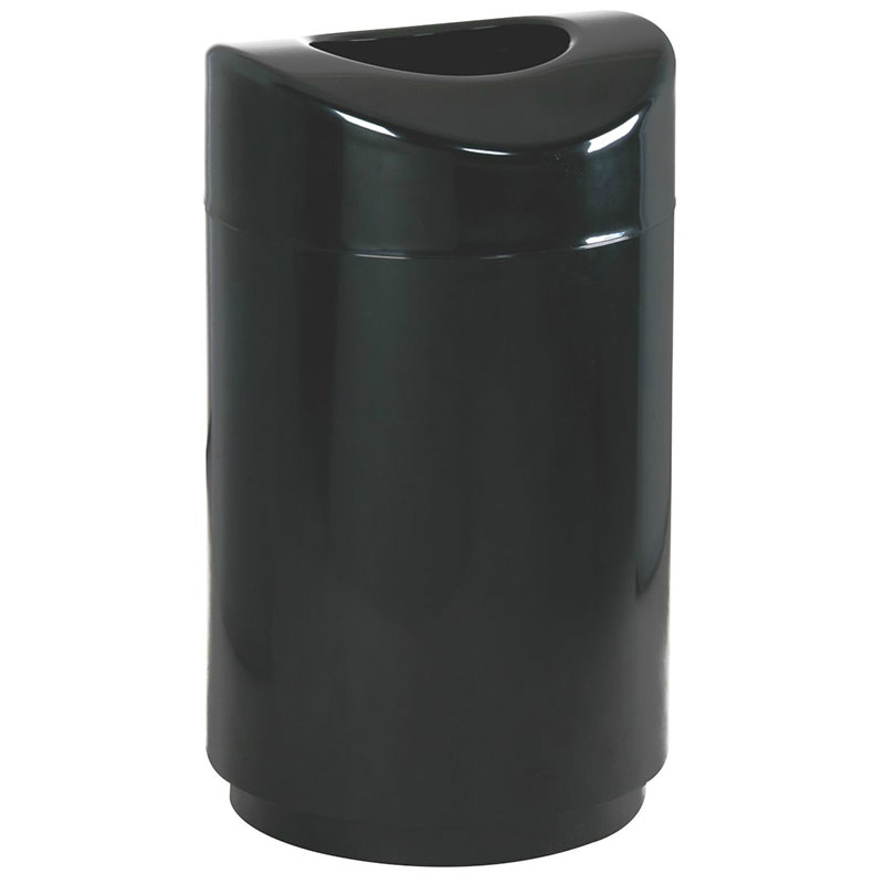 Rubbermaid FGR2030EPLBK 30-gal Indoor Decorative Trash Can - Metal, Black