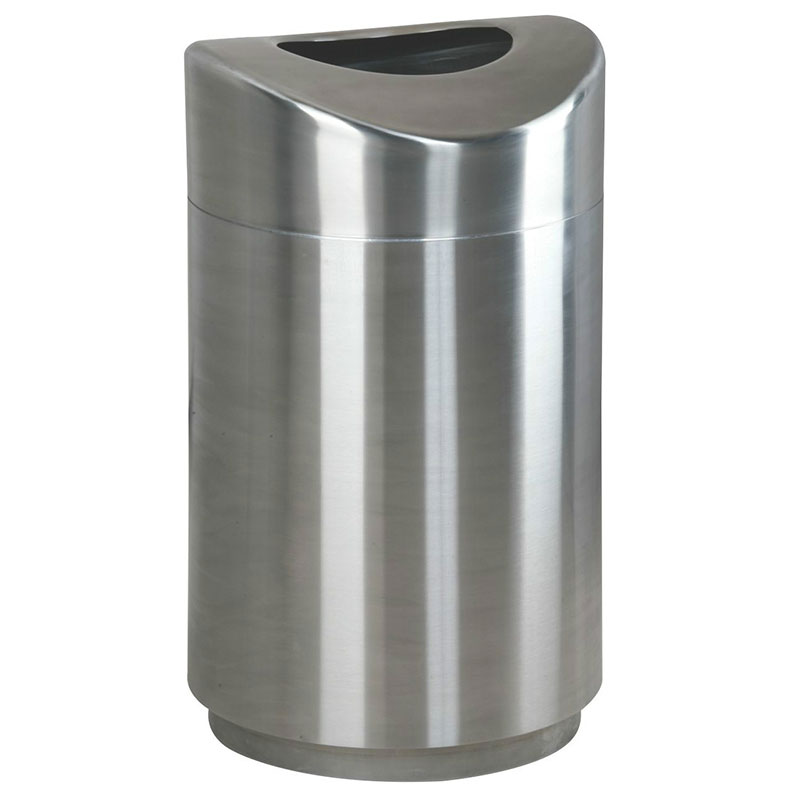 Rubbermaid FGR2030SSPL 30 gal Indoor Decorative Trash Can  Metal Stainless Steel