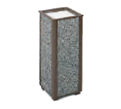 "Rubbermaid FGR406000 10"" Square Aspen Urn - Glacier Gray Stone/Bronze"
