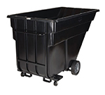 "Rubbermaid FG102542 BLA Forkliftable Tilt Truck - 1200-lb Capacity  80-1/2""x43""x49-1/2"" Black"