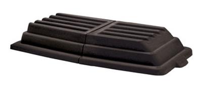 Rubbermaid FG102800BLA Domed Lid - 3/4 cu yd Capacity Tilt Truck, Black