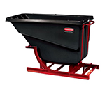 Rubbermaid FG106400 BLA Self-Dumping Hopper - 1.5 cu yd, 1000-lb Capacity, Black