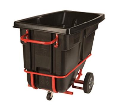 "Rubbermaid FG130542BLA Forkliftable Tilt Truck - 850-lb Capacity  60-1/2""x28""x38-5/8"" Black"