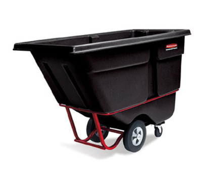 "Rubbermaid FG131500BLA Tilt Truck - Utility Duty, 1250-lb Capacity 72-1/4x33-1/2x43-3/4"" Black"