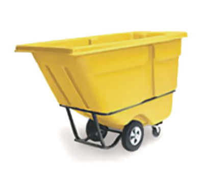 "Rubbermaid FG130500YEL Tilt Truck - Standard Duty, 850-lb Capacity 56-3/4x28x38-5/8"" Yellow"