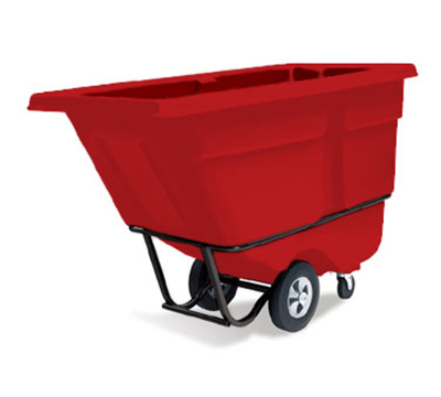 "Rubbermaid FG130500RED Tilt Truck - Standard Duty, 850-lb Capacity 56-3/4x28x38-5/8"" Red"