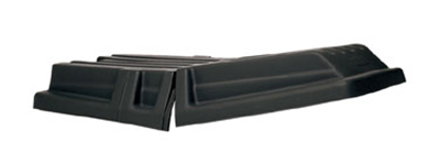"Rubbermaid FG130700BLA Domed Lid - Tilt Truck, 56-1/2x28-1/2x9"" Black"