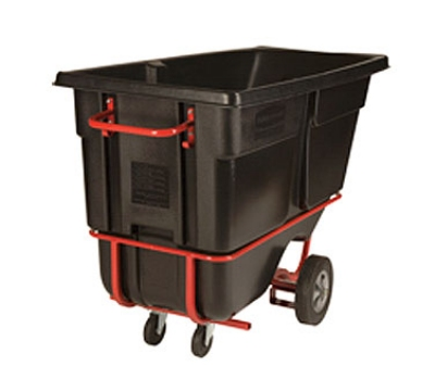 "Rubbermaid FG131542BLA Forkliftable Tilt Truck - 1250-lb Capacity  72-1/4""x33-1/2""x43-3/4"" Black"
