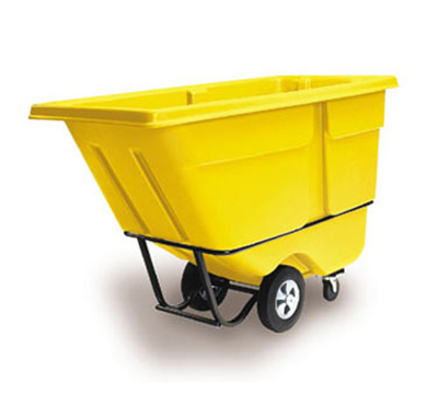 "Rubbermaid FG131500YEL Tilt Truck - Utility Duty, 1250-lb Capacity 72-1/4x33-1/2x43-3/4"" Yellow"