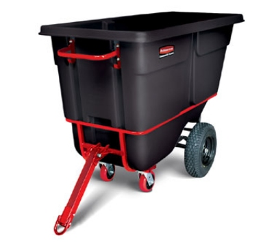 "Rubbermaid FG131641BLA Towable Tilt Truck - Heavy Duty, 2100-lb Capacity  72-1/4""x33-1/2""x43-3/4"" Black"