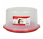 "Rubbermaid 1777191 10"" Cake/Pie Keeper - Clear Lid, White"