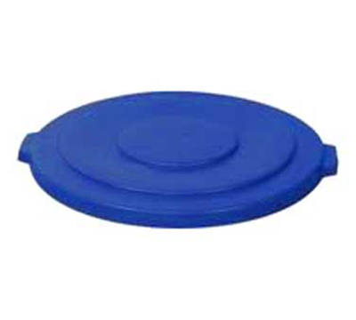 Rubbermaid 1779733 Round Flat Trash Can Lid - Plastic, Blue