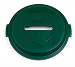 Rubbermaid 1788379 Paper Lid - 32-gal BRUTE Recycling Container, Green