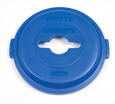 Rubbermaid 1788380 Single Stream Lid - 32-gal BRUTE Recycling Container, Blue