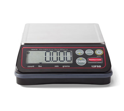 Rubbermaid 1812592 Digital Portion Control Scale - 24-lb Capacity, Stainless