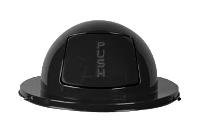 Rubbermaid FG1855BK Dome Top - (H55) Steel, Black