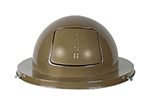 Rubbermaid FG2030BR Dome Top - (H12) - Steel, Brown