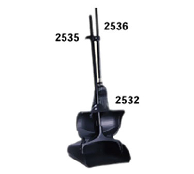 "Rubbermaid FG253500BLA Upright Dust Pan Hanger Bracket - 4x1-1/4x1-1/4"" Black"