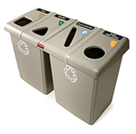 Rubbermaid 1792374 92-gal Glutton Recycling Station - (2)56-gal/(4)23-gal Conta