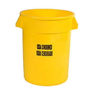 Rubbermaid FG263246YEL 32-gal Food Processing Container - USDA Condemned Imprint, Yellow