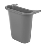Rubbermaid FG295073 GRAY 13-5/8-qt Side Bin Recycling Container - Gray