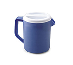 Rubbermaid FG3062PRPERI 2-1/4-qt Pitcher with Lid - White/Periwinkle