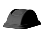 "Rubbermaid FG306700BLA Untouchable Domed Lid - 16x11-5/8x7"" Black"