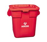 Rubbermaid FG351700 RED 28-gal BRUTE Container Lid Pack - Red