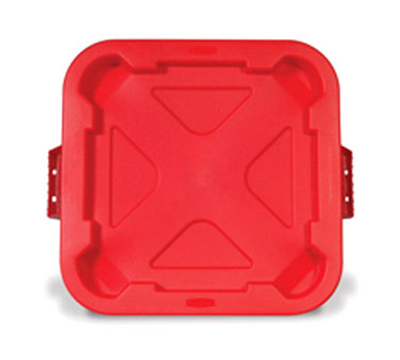 "Rubbermaid FG352900 RED 22"" Snap-Lock Container Lid - Red"