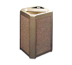 "Rubbermaid FG396600DWOOD 20-gal Landmark Series Container - 21x21x30-1/2"" Ash/Trash Frame, Drift Wood"