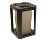 "Rubbermaid FG396600 SBLE 20-gal Landmark Series Container - 21x21x30-1/2"" Ash/Trash Frame, Sable"