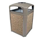 "Rubbermaid FG397001DWOOD 35-gal Landmark Series Container - 26x26x40"" Dome Top Frame, Ashtray, Drift Wood"
