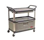 Rubbermaid FG409400 GRAY Xtra Instrument Cart - 3-Shelf, 300-lb Capacity, Lockable, Gray