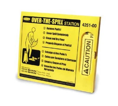 Rubbermaid FG425100 YEL Over-the-Spill Station Kit - Yellow