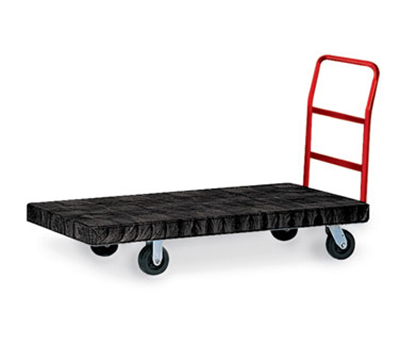 "Rubbermaid FG446600BLA Platform Truck - Heavy Duty, 30x60"" 2000-lb Capacity, Resin/Metal, Black"