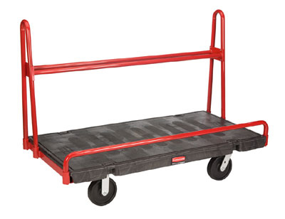 "Rubbermaid FG446400BLA A-Frame Panel Truck - 30x60"" 2000-lb Capacity, 8"" Castors, Black"