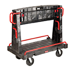 "Rubbermaid FG446500BLA A-Frame Panel Truck - 24x56"" 2000-lb Capacity, 8"" Castors, Black"